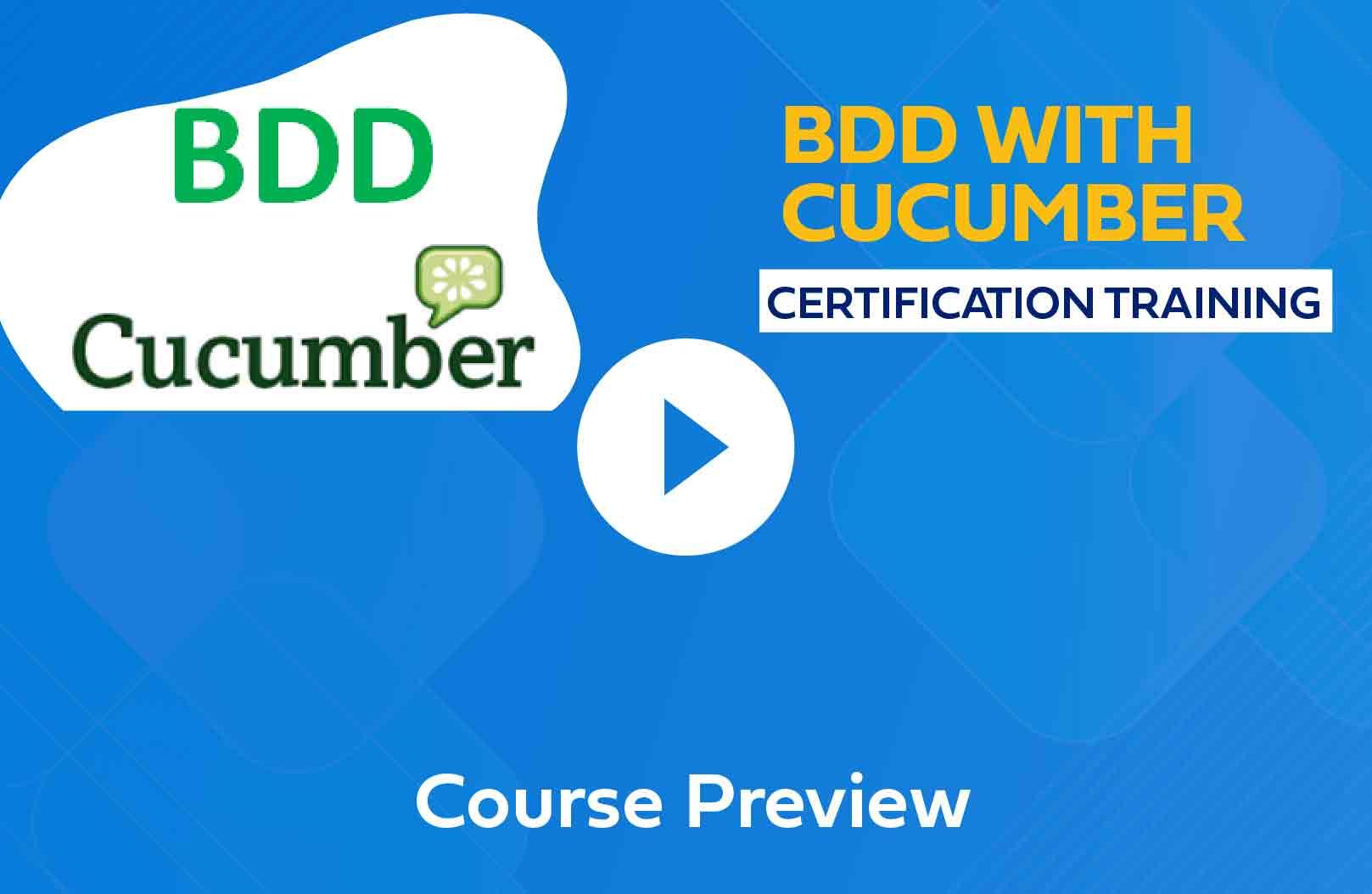 BDD with Cucumber Online Training